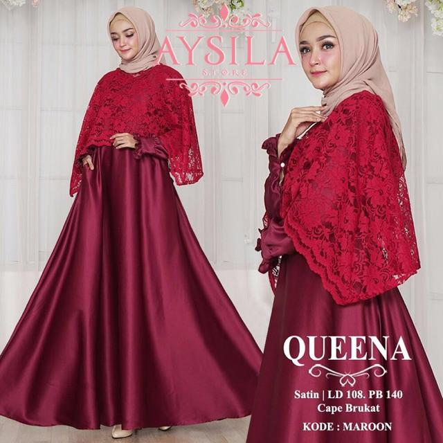 Gamis Queena by Aysila (Black)