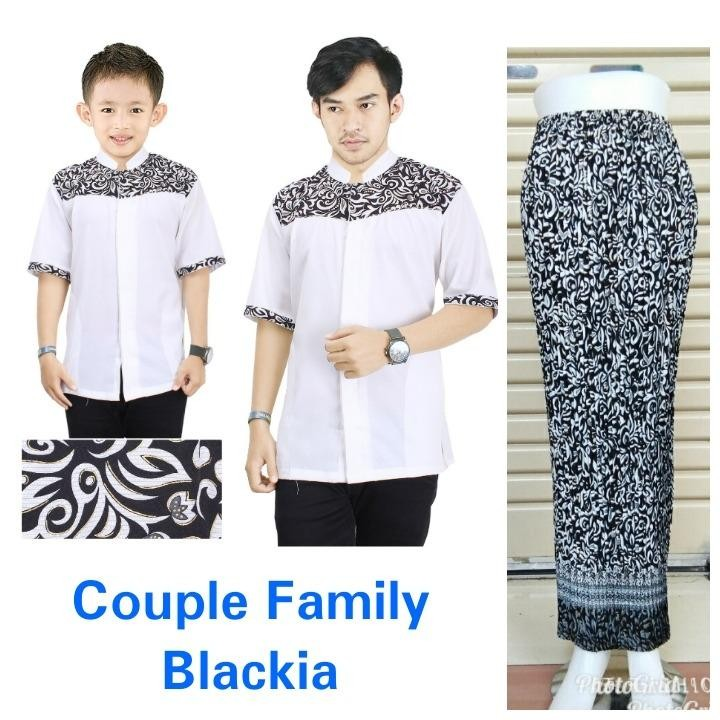 Miracle Couple Family Baju Muslim Tito Koko Kemeja Anak Ayah Dan Rok Plisket Batik Maxi
