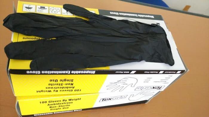 Promo - Glove nitrile hitam sarung tangan nitrile hitam