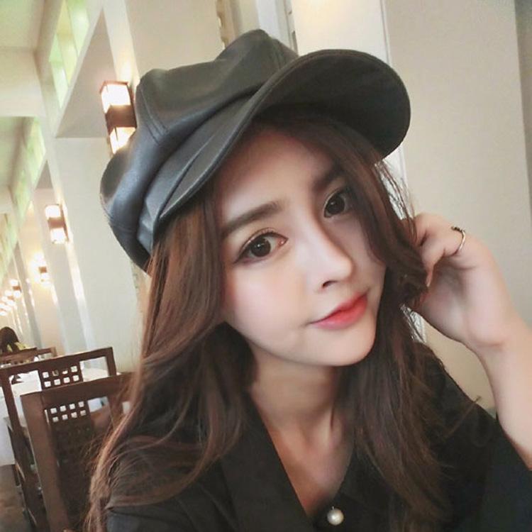 Versi Korea Model Baru 2016 Musim Semi dan Musim Gugur Topi Belle Topi  Oktagonal Wanita Topi 2671335360