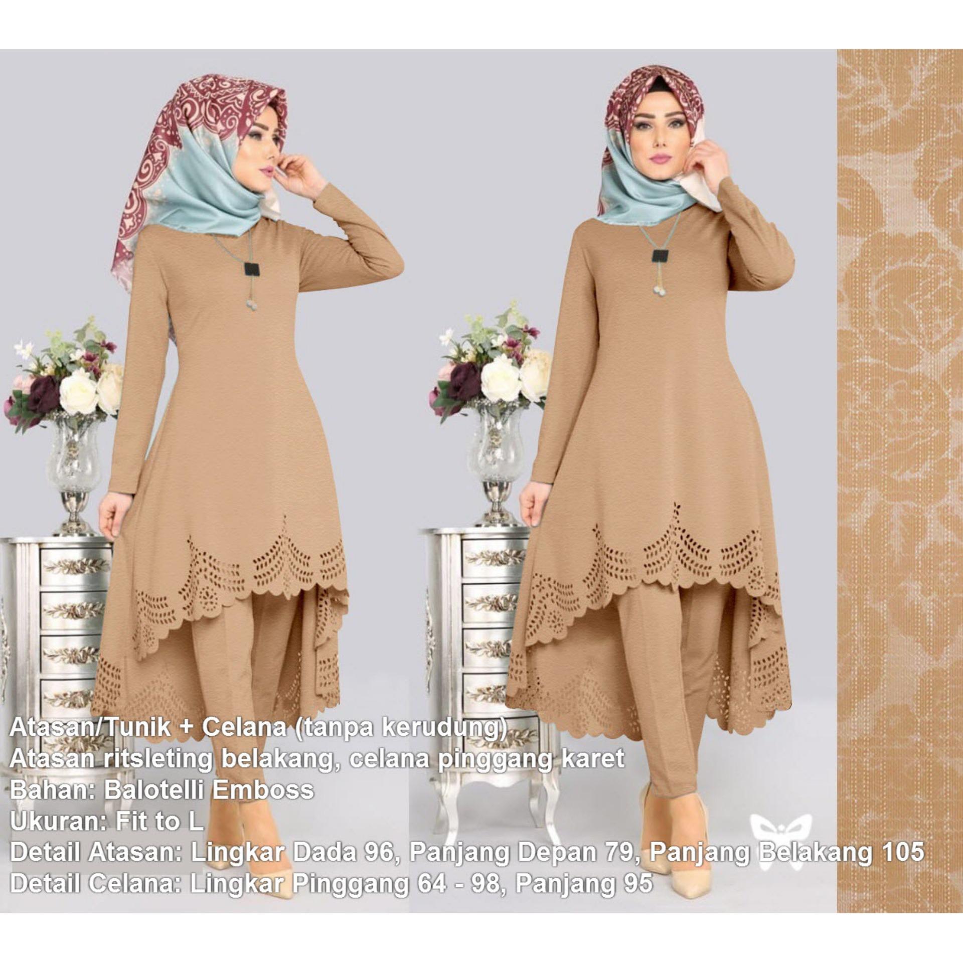 Baju Muslim Wanita Set 2 in 1 Baloteli Laser MSR266   Setelan Muslimah    Stelan Gamis 847960c73e