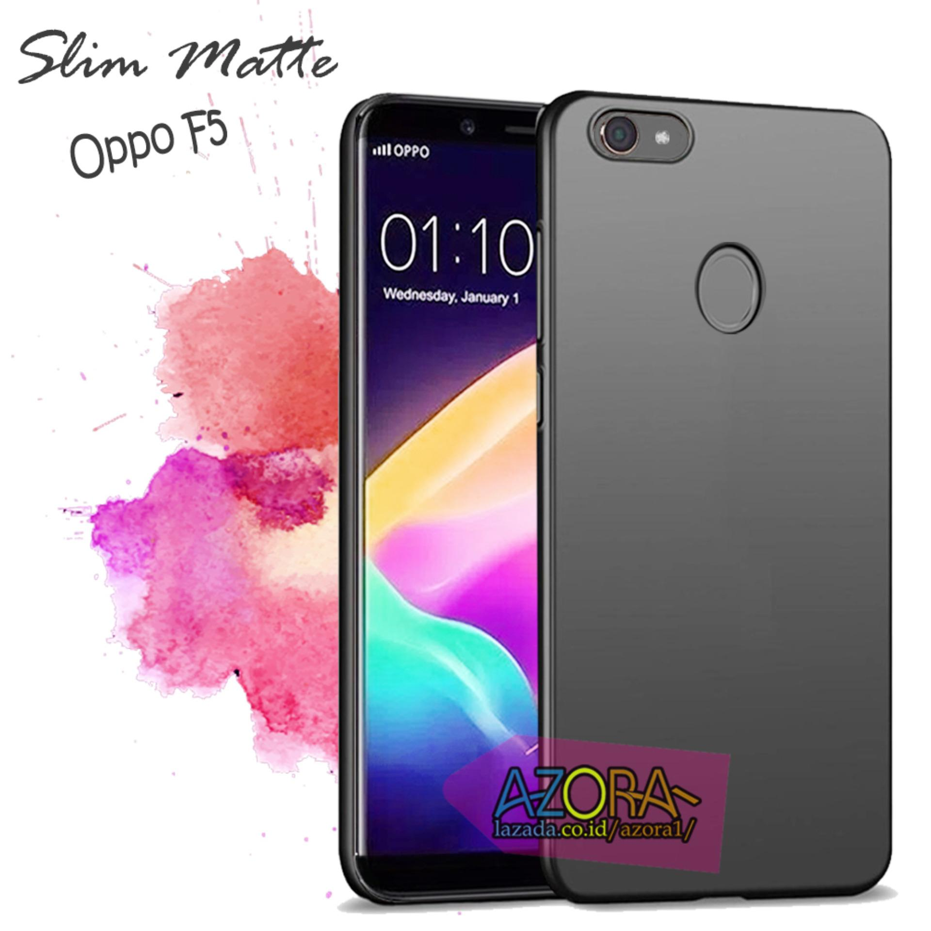 Case Slim Black Matte Oppo F5 Baby Skin Softcase Ultra Thin Jelly Silikon Babyskin