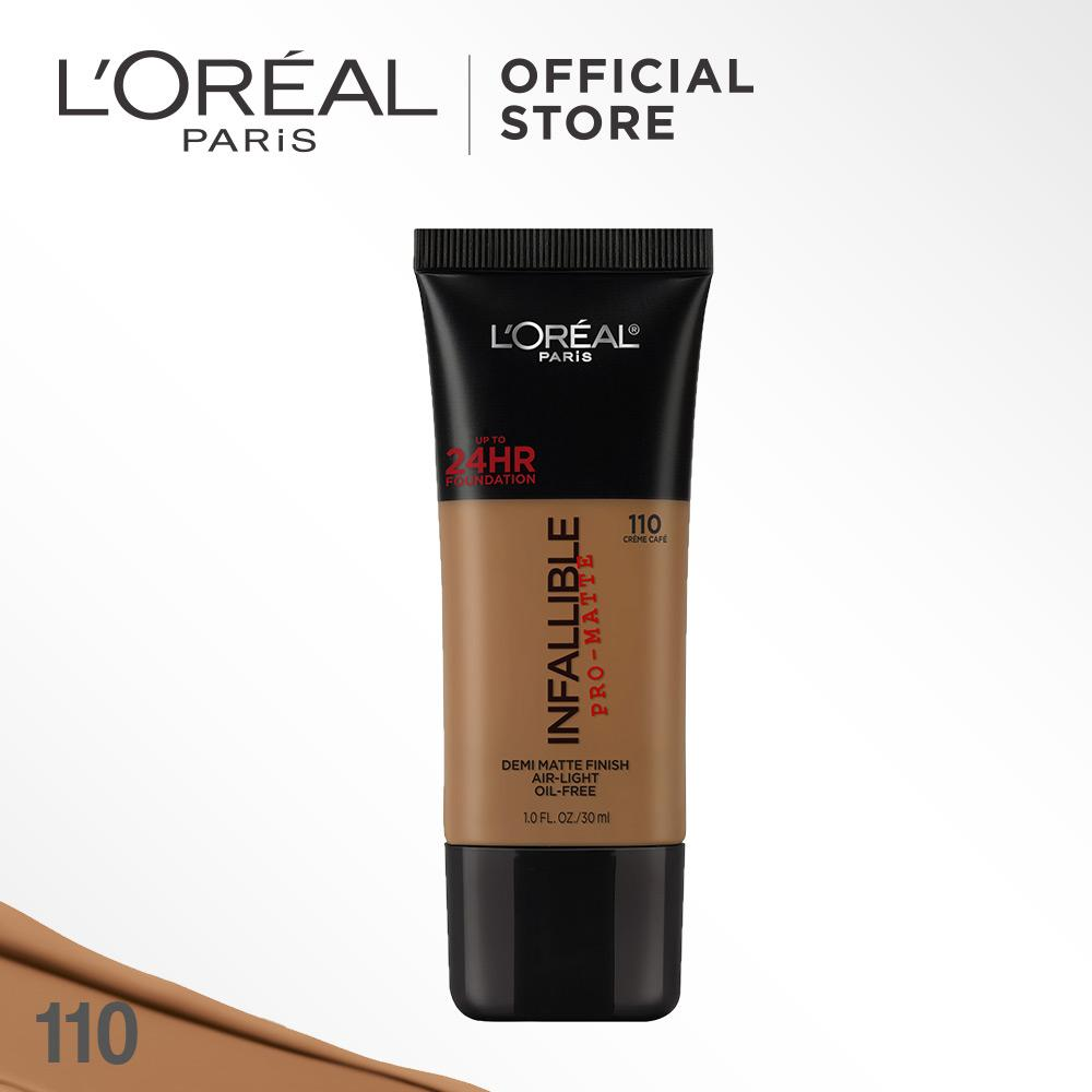 L'Oreal Paris Infallible Pro Matte Liquid Foundation - 110 Crème Café by L'Oreal Paris Makeup   Loreal Foundation  Cair Matte For Normal to Oily Skin / Kulit Berminyak Long Lasting Tahan Lama