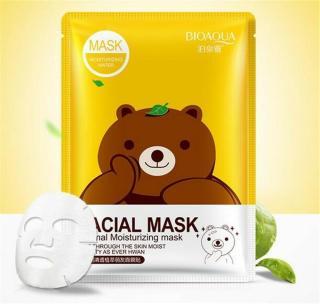 Bioaqua Bear Facial Mask - Masker Animal Moisturizing - Masker Wajah Korea - 1 Pcs thumbnail