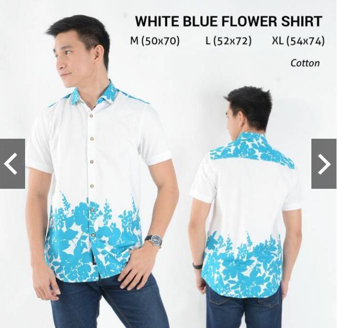 Indonesia Heritage - Kemeja Seragam - Hem Batik Pria Eksklusif  - Kado Ultah -Baju Kondangan - Motif Bunga