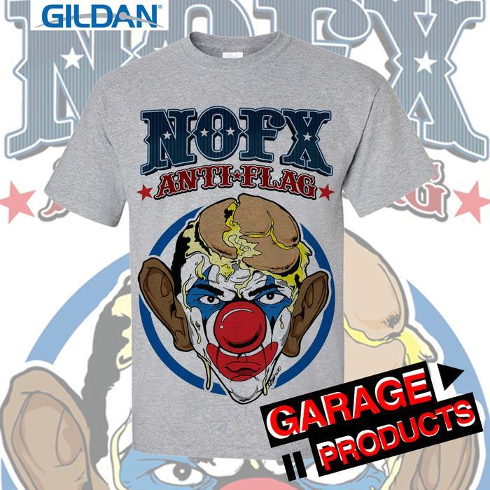 NOFX - Anti Flag Kaos Band Original Gildan - Abu-Abu Muda, XS - FoL7fc