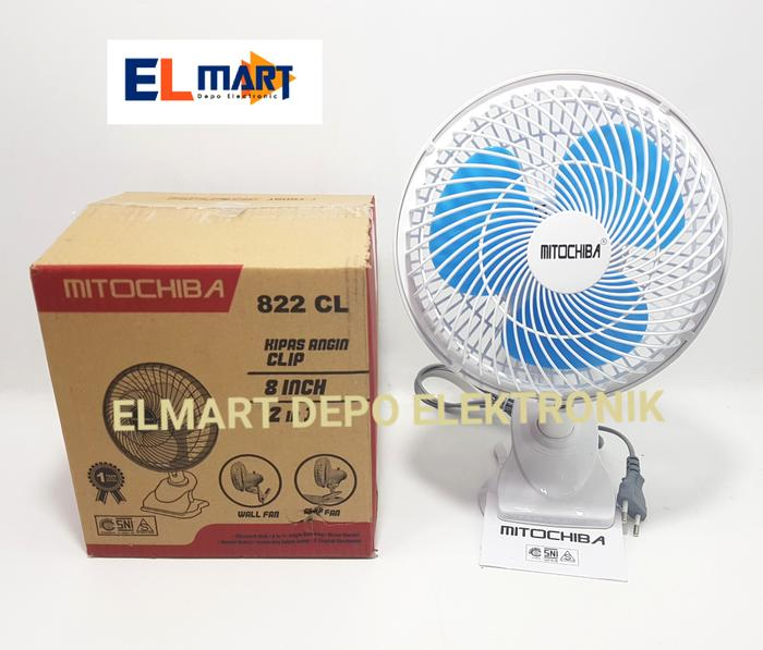 MITOCHIBA kipas angin jepit 8 inch 822 CL /wall fan 822CL
