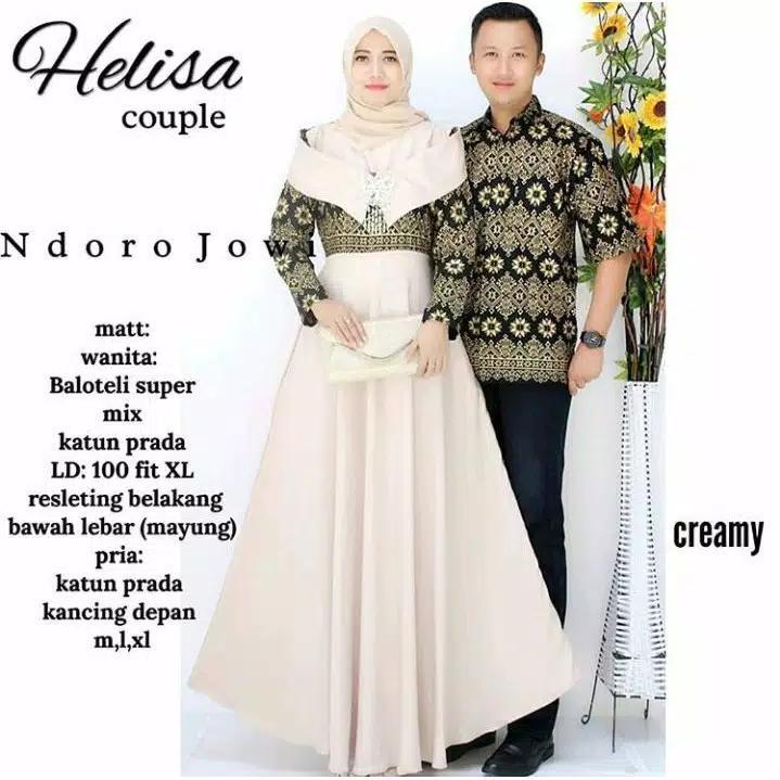 TERMURAH - Batik Couple / Couple Batik / Baju Muslim Wanita Terbaru 2018 / Batik Murah / Batik Sarimbit / Baju Batik Modern / Batik Kondangan / Batik Keluarga / Batik Pekalongan - Baju Batik Couple Helisa Couple