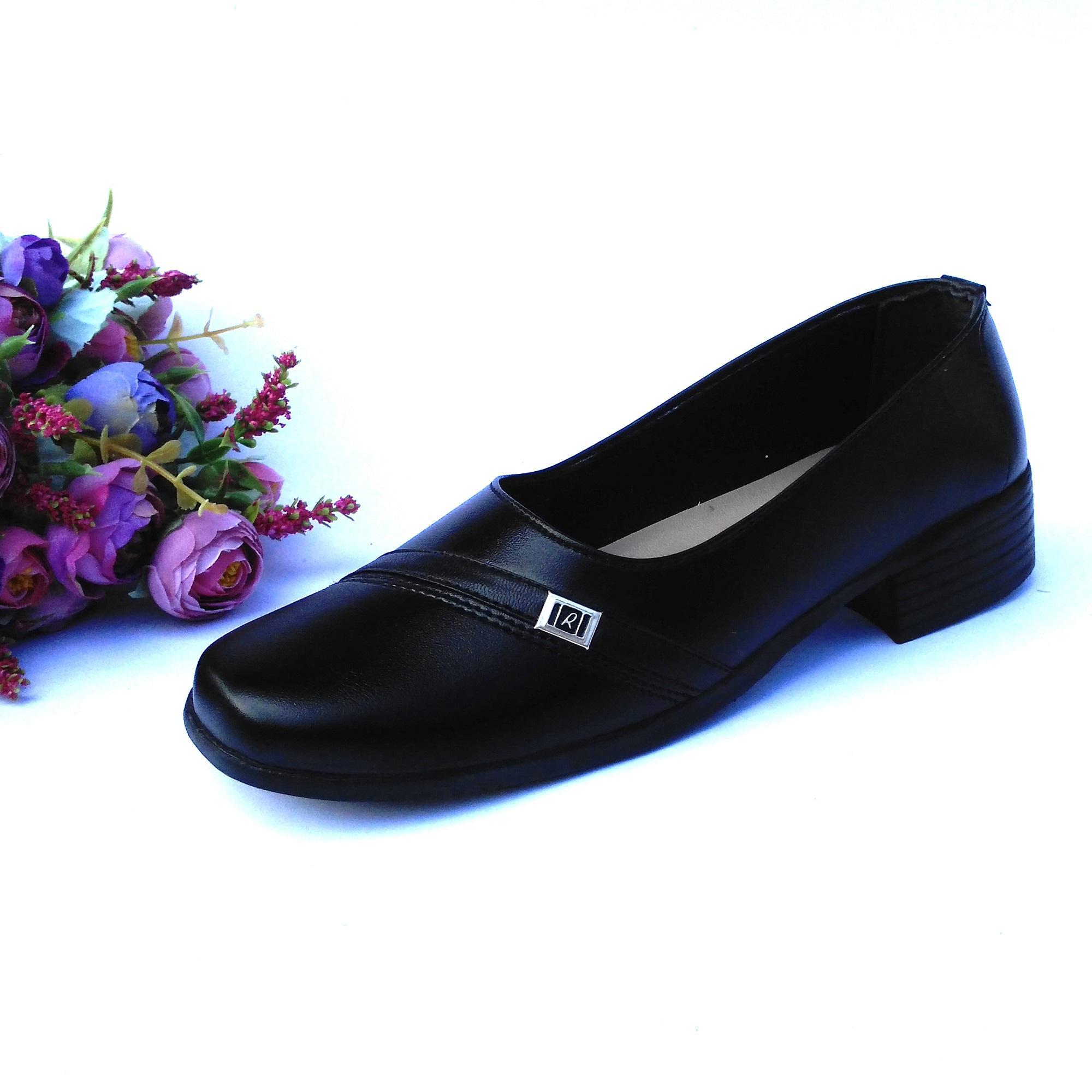 HQo Sepatu Pantofel Wanita / Sepatu Wanita Formal / Sepatu Pantofel Paskibra Wanita Bertali / Sepatu Kerja Wanita / Sepatu Kantor Wanita / Sepatu Kulit Wanita / Sepatu Sekolah Anak Wanita Hitam / SCO 02