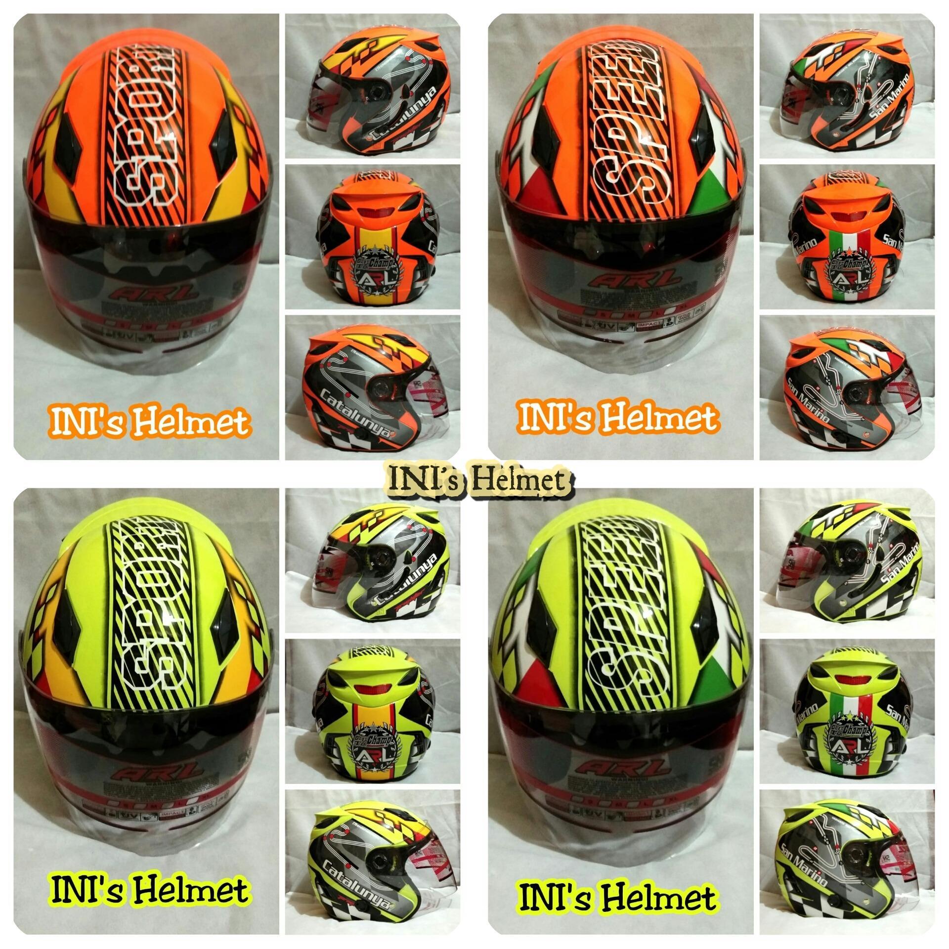 Helm ARL helmet Half face SNI centro Double Visor 2 kaca ARL not INK KYT MDS AGV Nolan