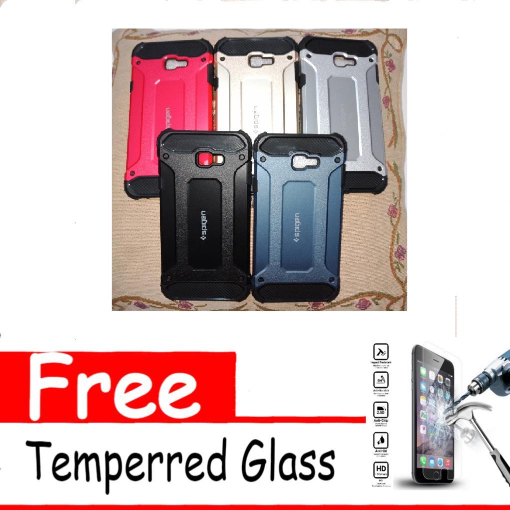 Case Spigen Iron Man For Samsung Galaxy J4 Plus 2018 Air Cushion Tecknologi Soft Back Cover - RANDOM Free Temperred Glass