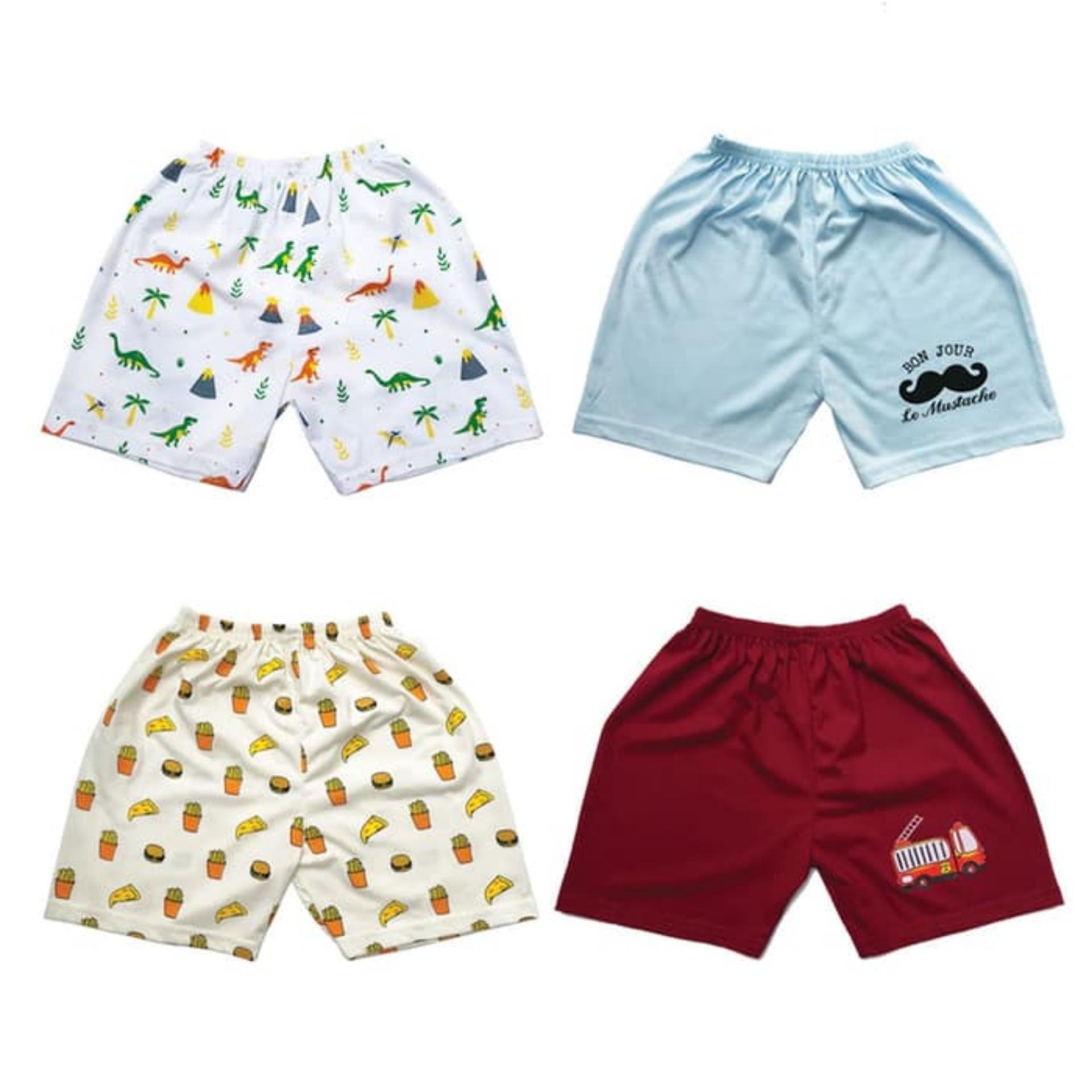 Kazel Jobel Short Pants Dino Edition Celana Pendek Anak isi 4 Size NB & S