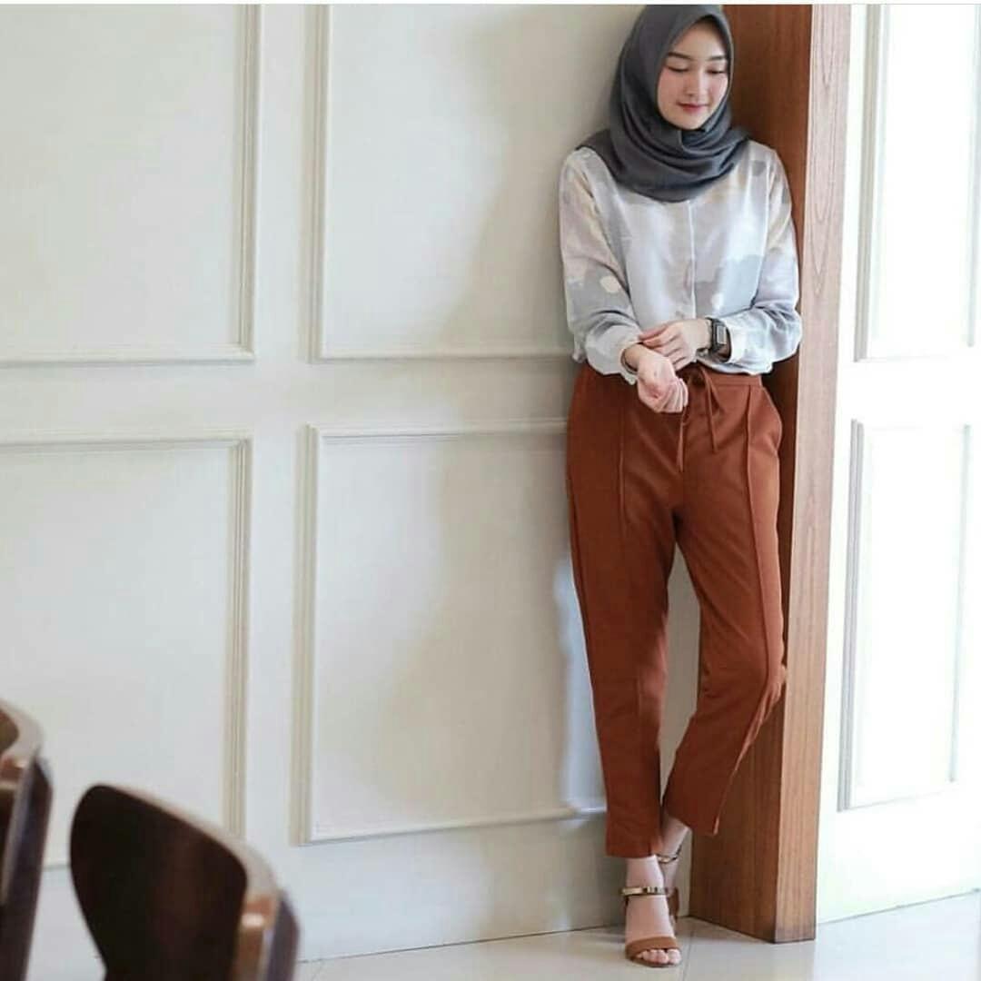 Baju Muslim Original Oxy Pants Toyobo Celana Panjang Terbaru Pants Wanita  Hijab Pakaian Jeans Modis Kulot fc1432b7d2