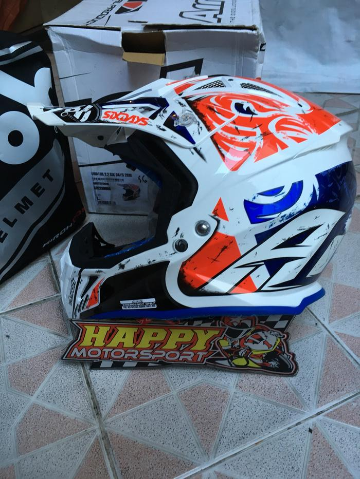 Helm Cross Airoh ori France Aviator 2.2 KTM sixdays 201