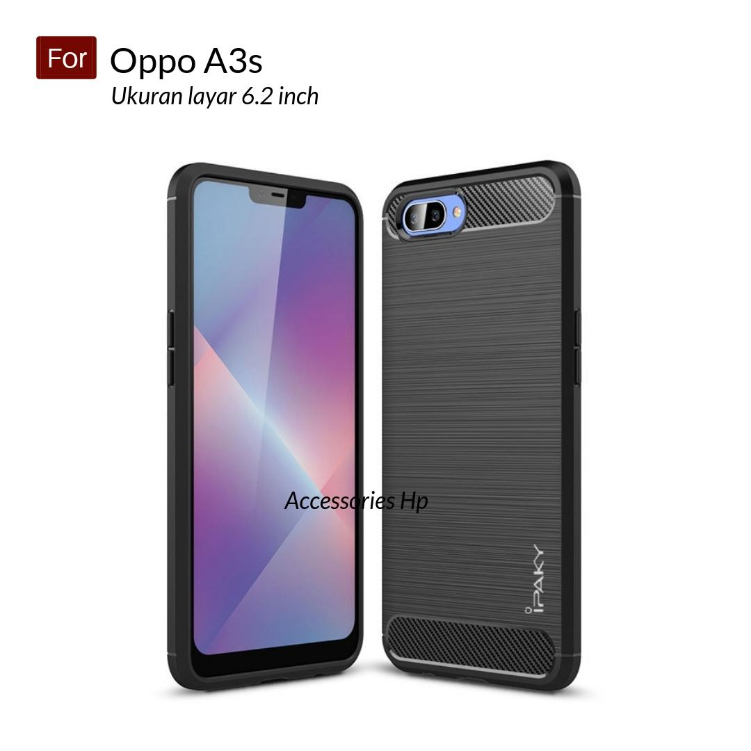 Accessories Hp Premium Quality Carbon Shockproof Hybrid Case For Oppo A3s ( 6.2 inch ) - Black