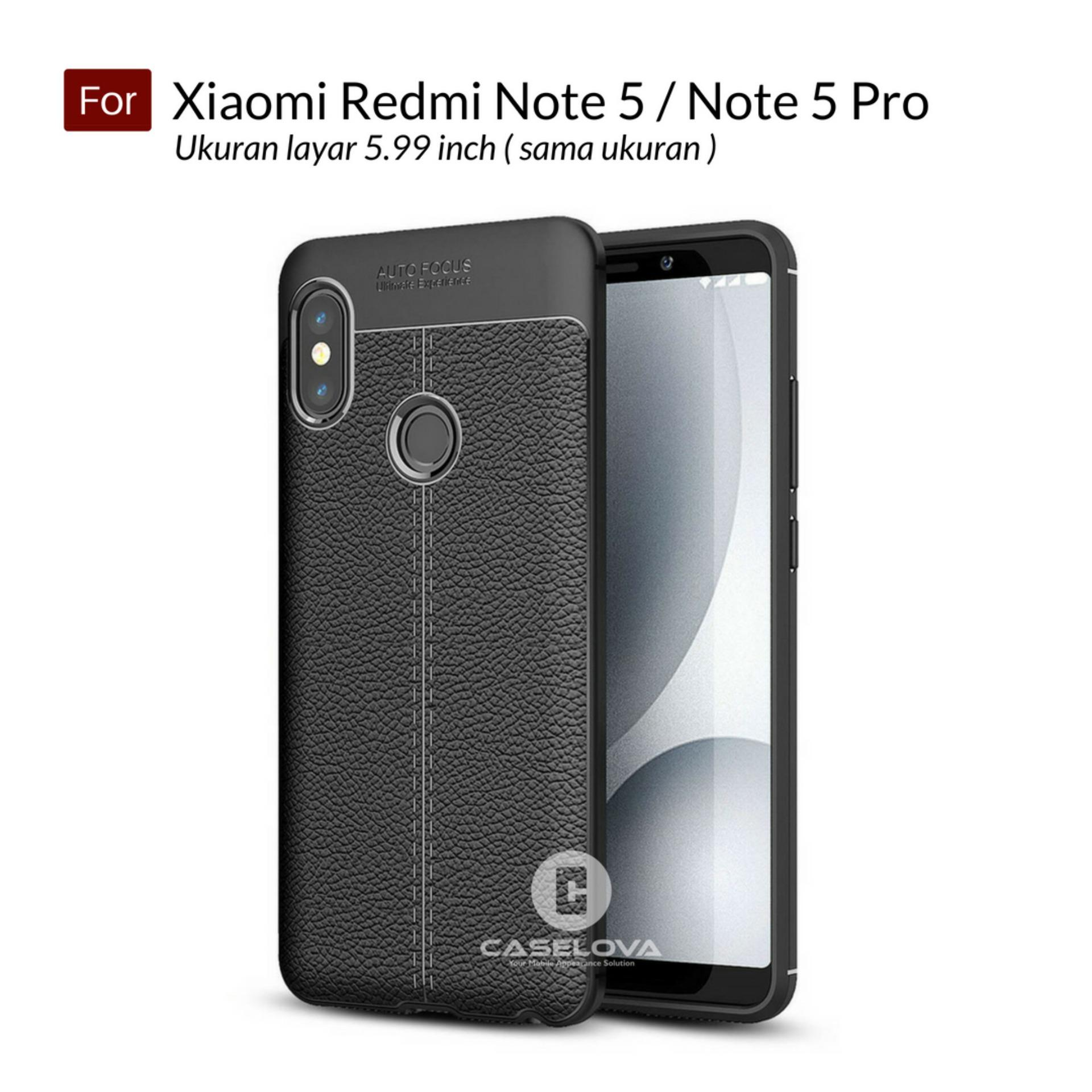 Caselova Ultimate Experience Shockproof Premium Quality Hybrid Case For Xiaomi Redmi Note 5 / Note 5 Pro Layar 5.99 inch ( sama ukuran ) - Black