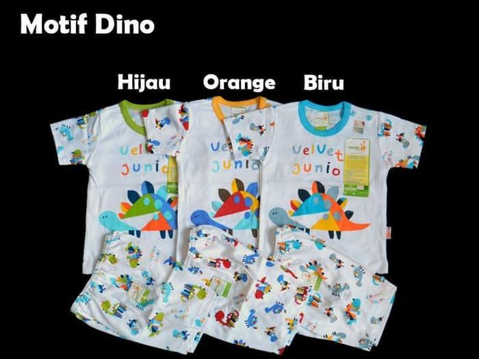 Baju Bayi Setelan Velvet Blok Pendek Size XL
