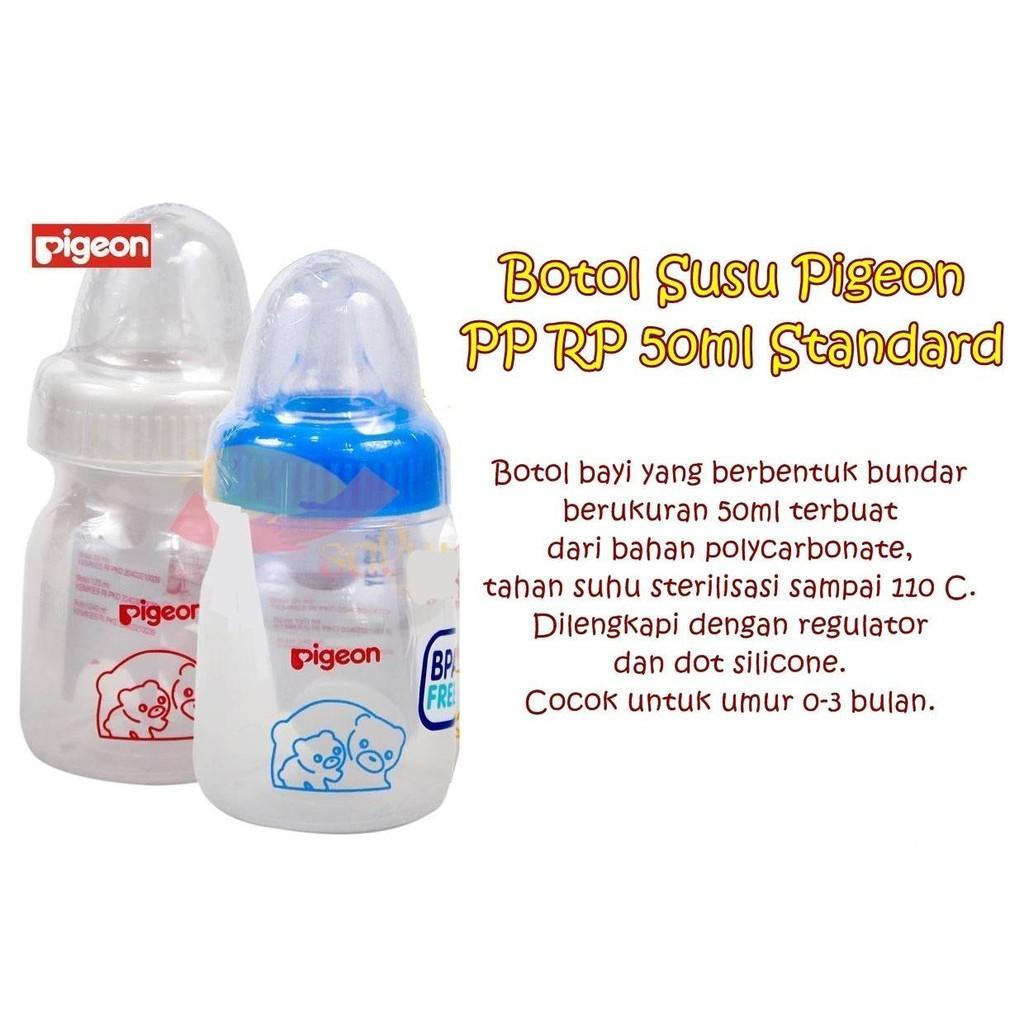 Pigeon PAKET HEMAT 2 Pcs Botol Susu 50ml - WARNA RANDOM / WARNA ACAK / Botol