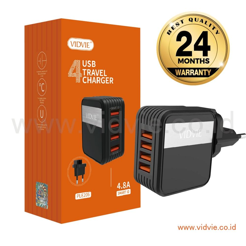 Buy Sell Cheapest Vidvie Adapter Charger Best Quality Product 2 Usb Port Micro Ple211 Cable Included 4 Ple206 Travel