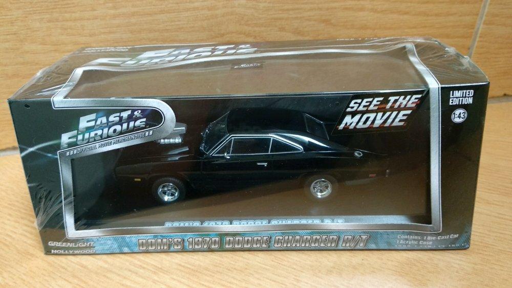 Doms Dodge Charger RT 1970 skala 43 Greenlight # Favorit Toys favorit_toys