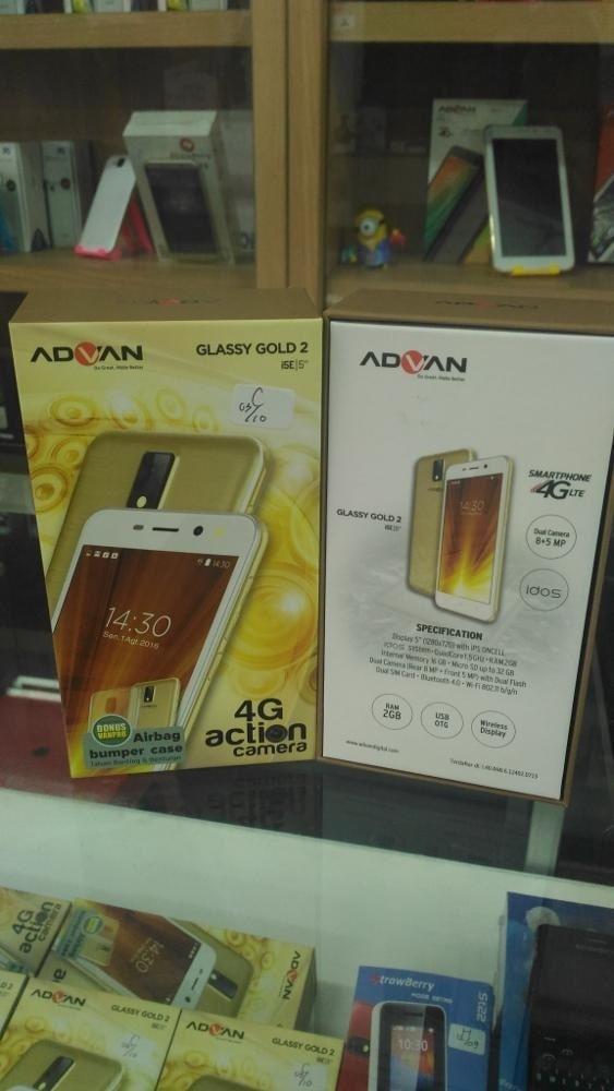 ORIGINALS  Advan Vandroid I5E Glassy Gold 4G LTE - Ram 2/16gb - Free Bumper Case