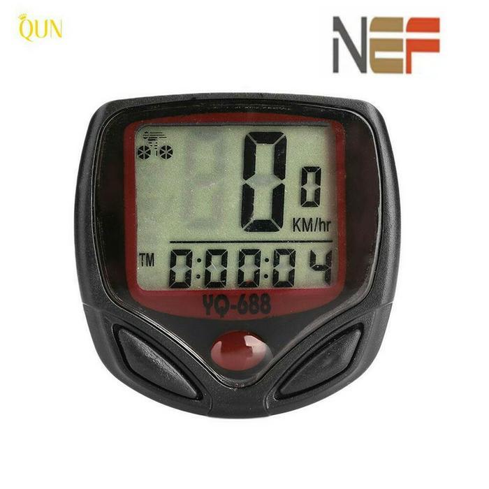 BEST SELLER!!! Speedometer sepeda odometer digital LCD buat MTB, BMX, sepeda lipat - f4CfwO