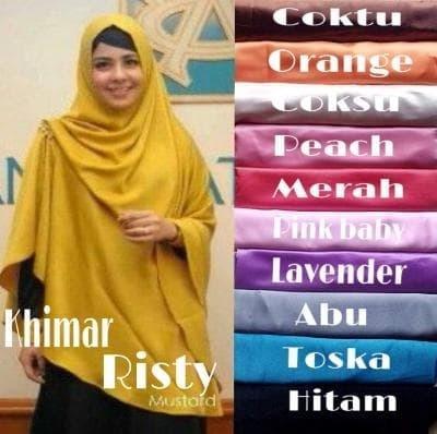 Hijab | Jilbab | Kerudung | Instan Syar'i KHIMAR RISTY RENDA VEL A0466