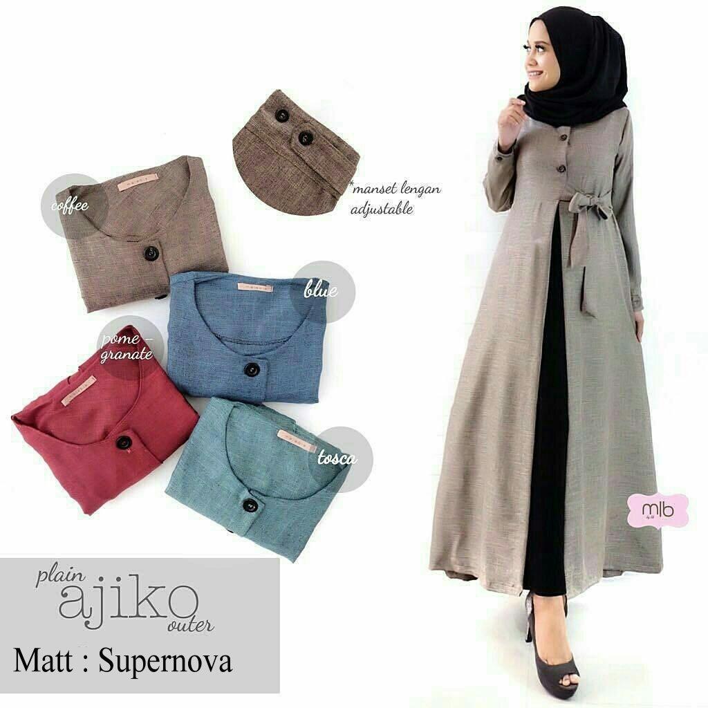 Daily Wear Outer Wanita Ajiko   Dress Muslimah   Hijab Muslim   Gamis Syari    Baju 5f86a4c71c
