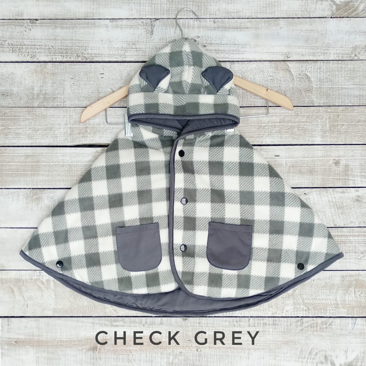 Cuddle Me Baby Cape Jaket Bayi / Selimut Bayi - Check Grey