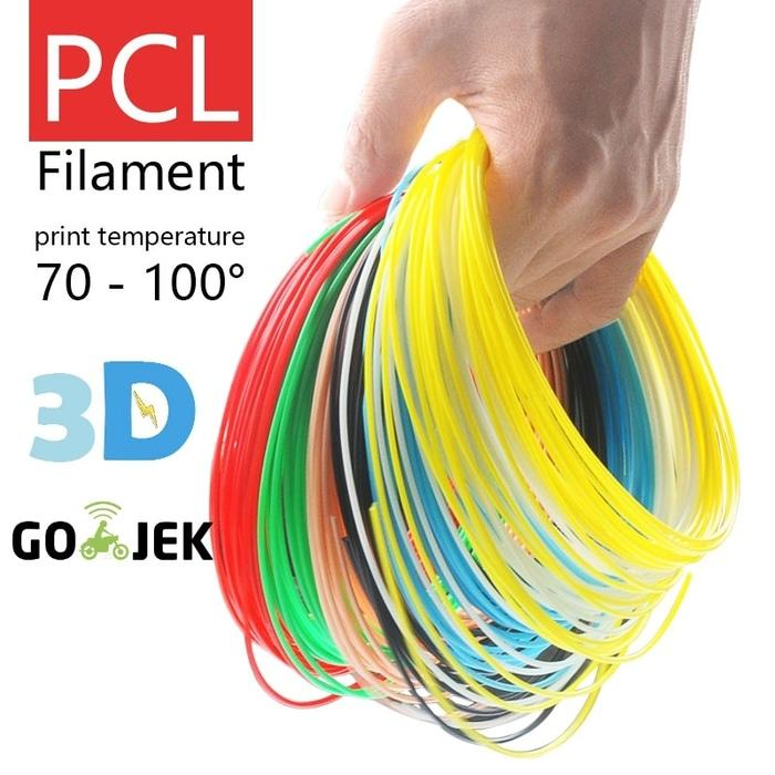 10 Meter Tinta PCL Filament untuk 3D Pen Low Temp Kualitas Terbaik
