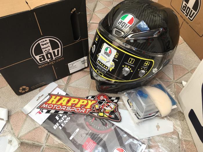 Helm Fullface AGV Pista GPR original Italy Carbon mono