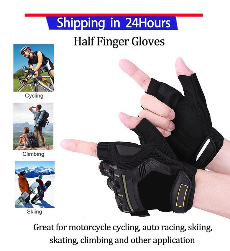 【Promosi kegiatan】1 Pair Motor Ajang Balapan Bersepeda Balap Berkuda Setengah Jari Sarung Tanga