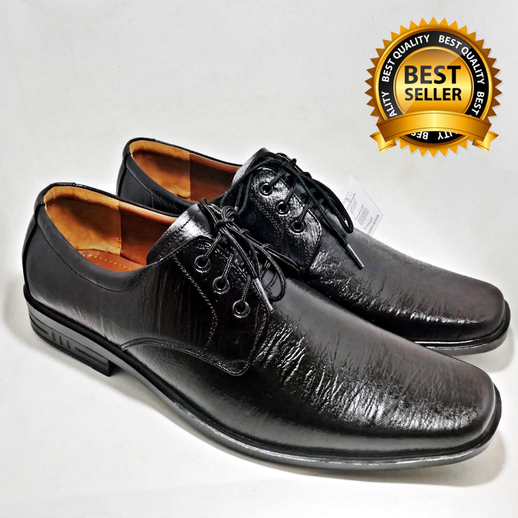 Sepatu Tali Kantor Pria Kulit Asli 100% Bukan Sintetis Tekstur Serat Kayu  Pantofel Big Size f2cb80b2c8