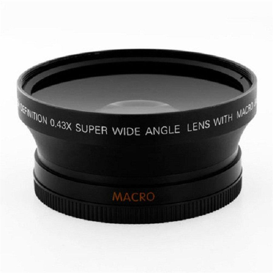 PKPNS 67mm 0.43X Wide Angle Lens For Canon T5i T4i T3i 18-135mm For Nikon 18-105mm