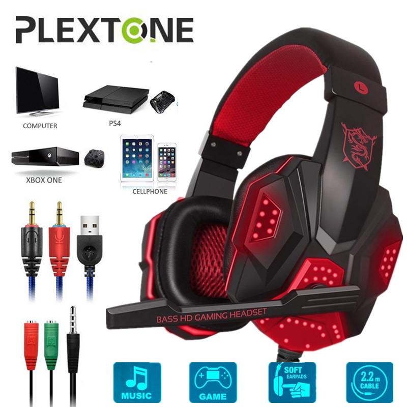 PLEXTONE PC780 Kabel Headphone Game Bas Ekstra Over-The-Ear Headphone Pemain Game Suara