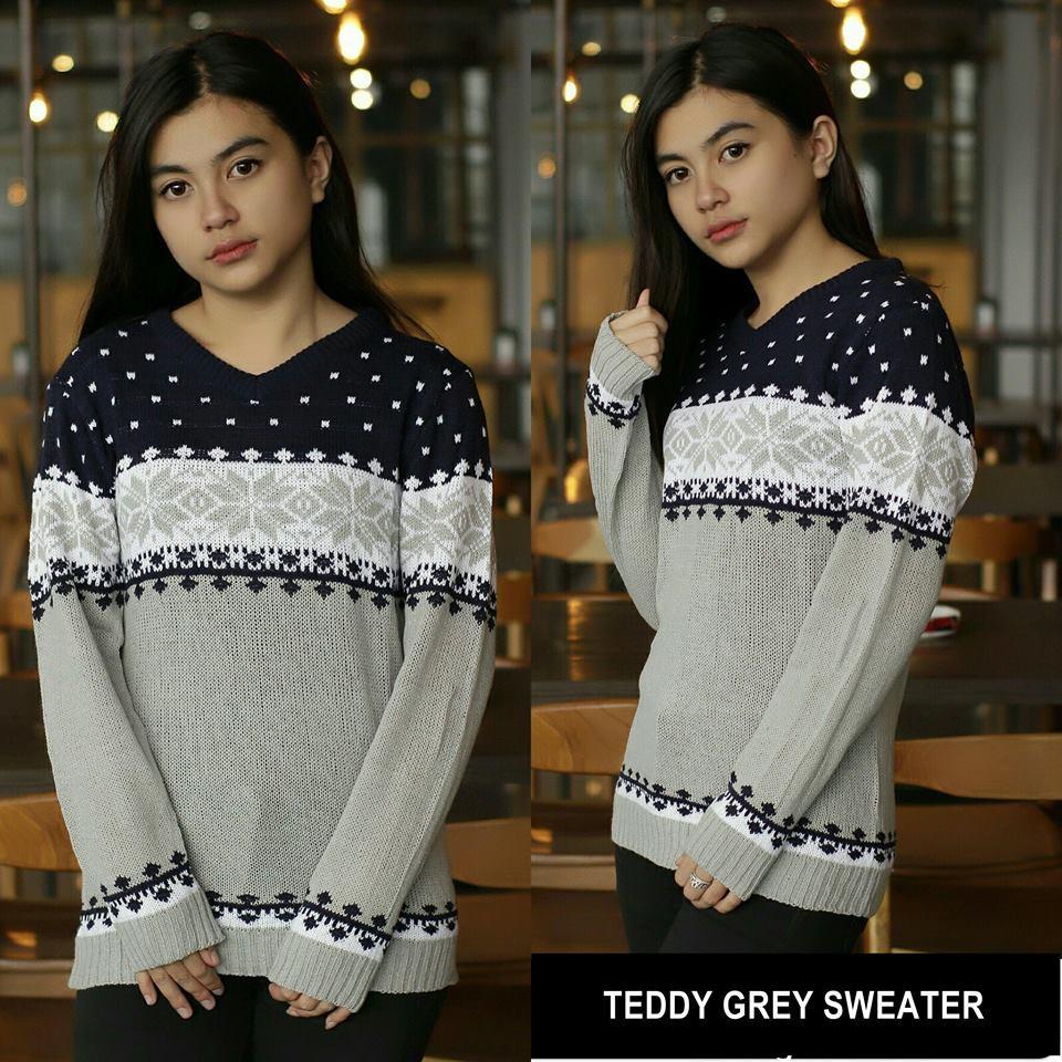 Jual Sweater Jaket Rajut Murah Garansi Dan Berkualitas Id Store Pria Tedy Grey Tirbal Rp 42000 Teddy