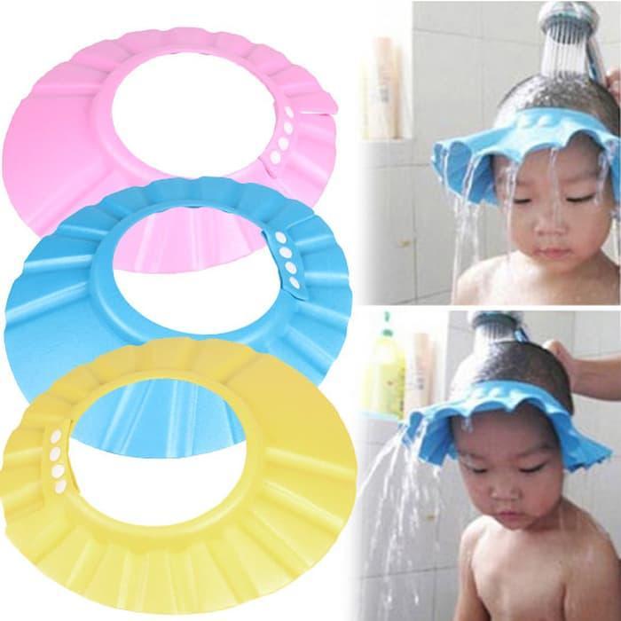 Topi Keramas Anak Dengan Kancing Pelindung Saat Keramas - Shower Cap for Kids Adjustable