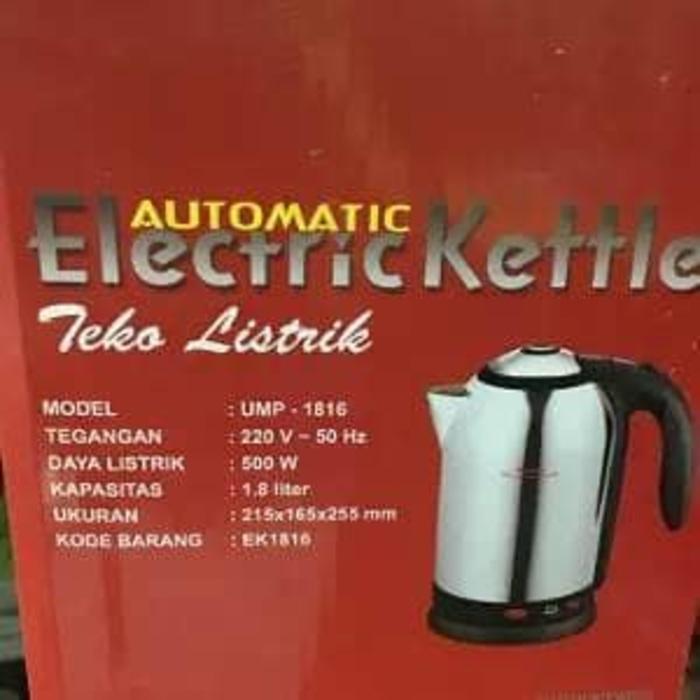 Teko Listrik Otomatis MASPION UMP 1816 Electric Kettle Berkualitas Gar