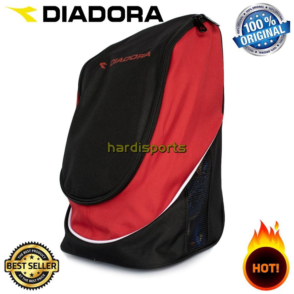 Tas Sepatu Diadora (Shoe Bag) DIASBU71208B - Black Red