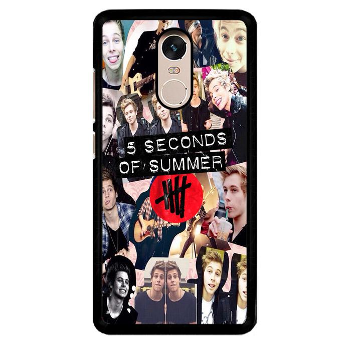 5 Seconds Of Summer 5Sos Collage Luke Hemmings V1355 Xiaomi Redmi Note 3 | Note 3 Pro Custom Hard Case