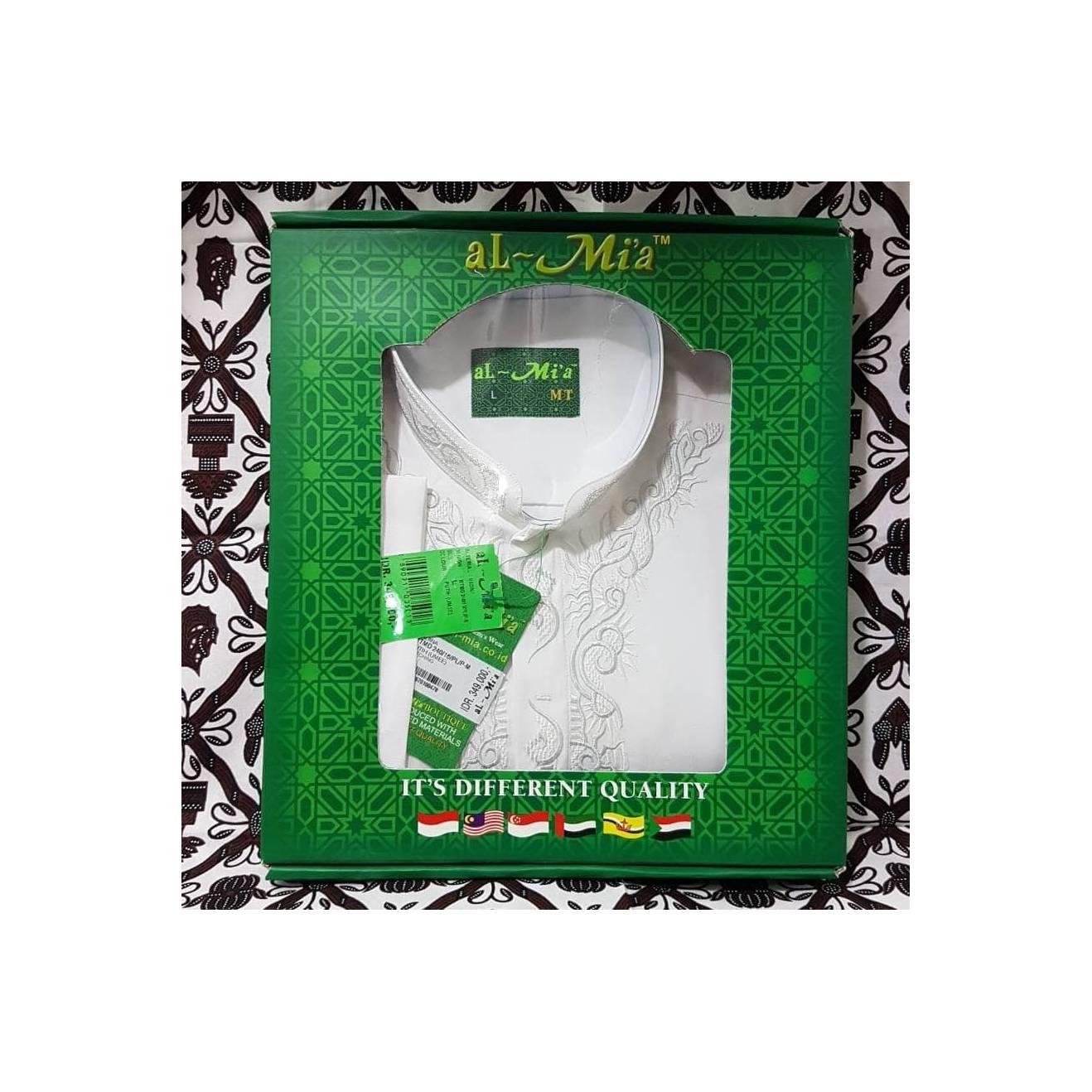 Baju Koko Almia MT T Panjang ukuran S M L XL Al Mia