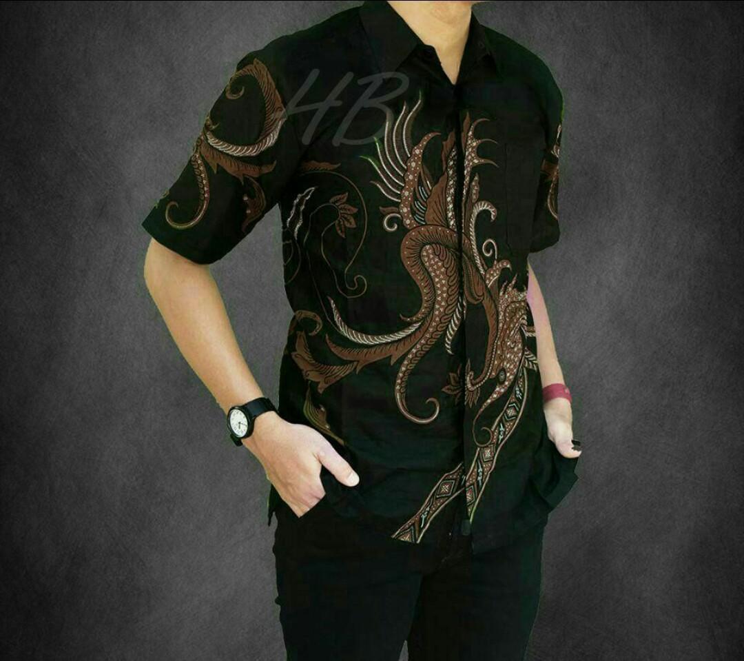 Baju Batik Pria Lengan Pendek Kombinasi / Baju Batik Pria Casual Modern Termurah / Batik Pria Kombinasi / Kemeja Batik Pria Lengan Pendek / Azka Batik