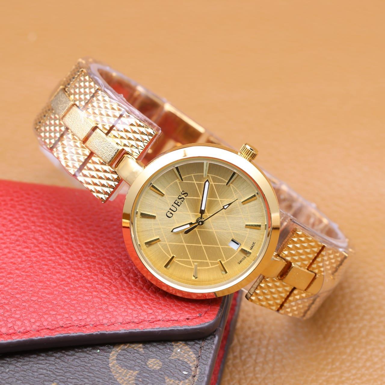 Guess Jam Tangan Wanita Emas Strap Stainless Steel W0437l2 Daftar W0335l2 Multifunction Gold Source Analog Watch