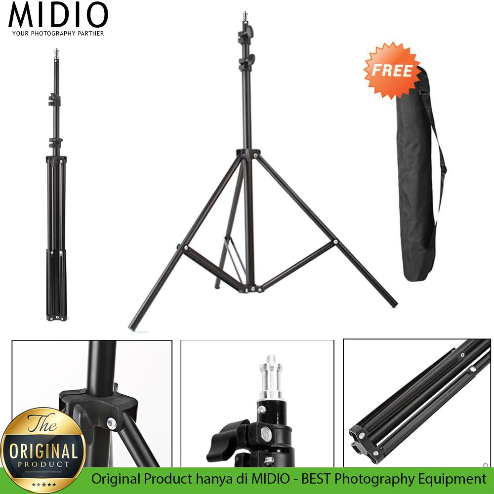 Light Stand Midio 200cm + Free Bag By Midio Indonesia.
