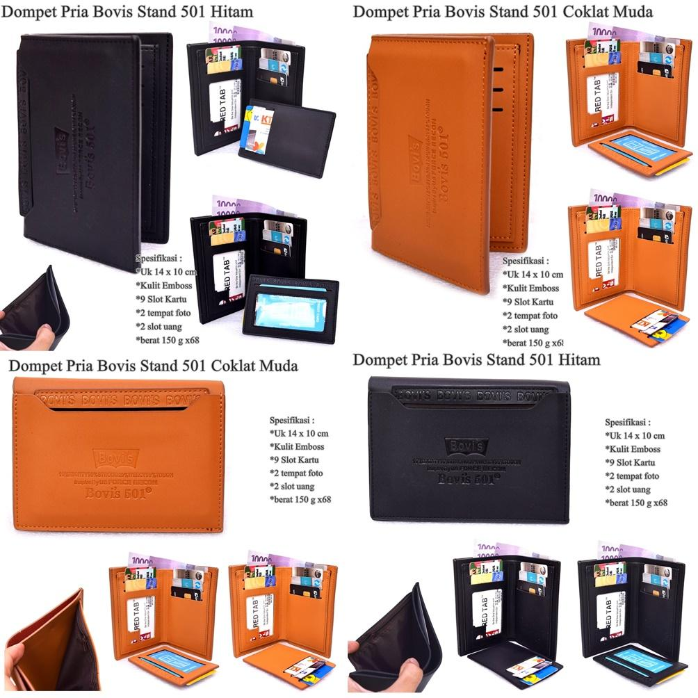 Bovis DF-81 Dompet Pria Long Fashion Wallet 8 incH PU Leather – Deep Brown, Rp 51.750, cek harga. Dompet Pria Bovis Stand 501