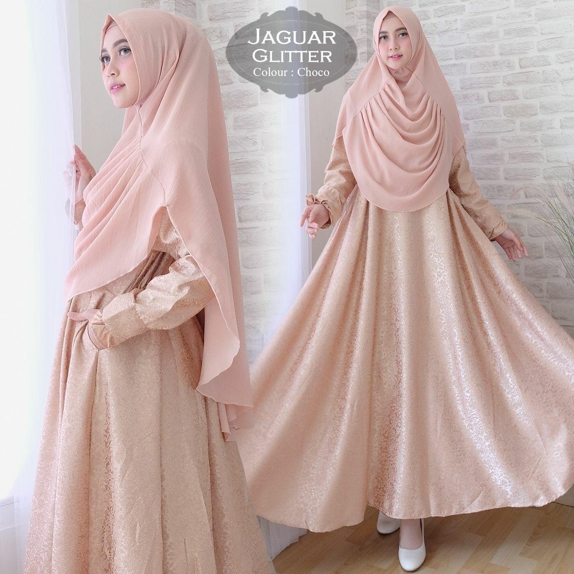 Baju Gamis Muslim Syari Fashionable - Gamis Syari Jaguar Gliter