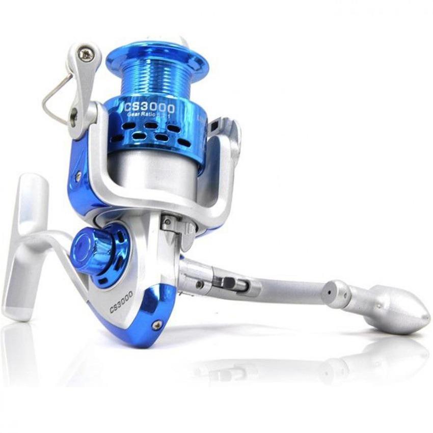Teiton Debao CS3000 Fishing Spinning Reel 8 Ball Bearing Reel Pancing Alat Gulungan Pancing Ikan Laut Sungai Fish Bahan Metal Aluminium Tarikan Kuat Gear Berkualitas Rivers Daya Tampung Tali Banyak - Biru