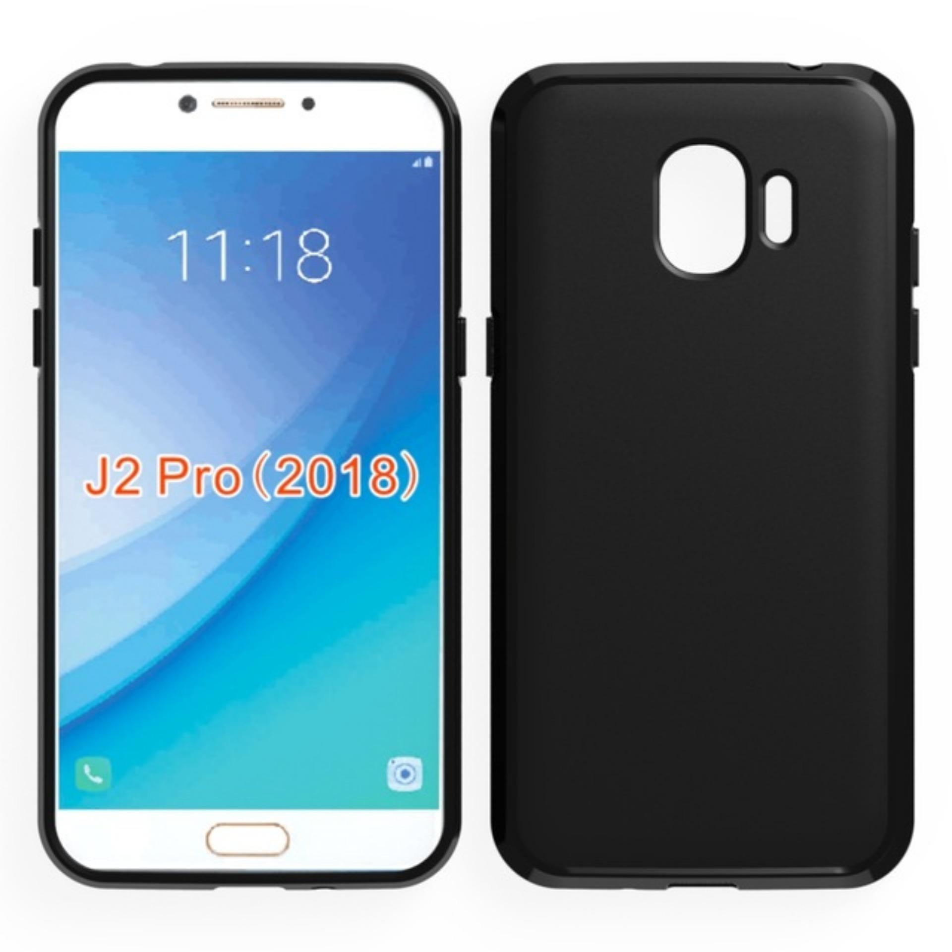 Case Slim Black Matte Samsung Galaxy J2 Pro 2018 Baby Skin Softcase Ultra Thin Jelly Silikon