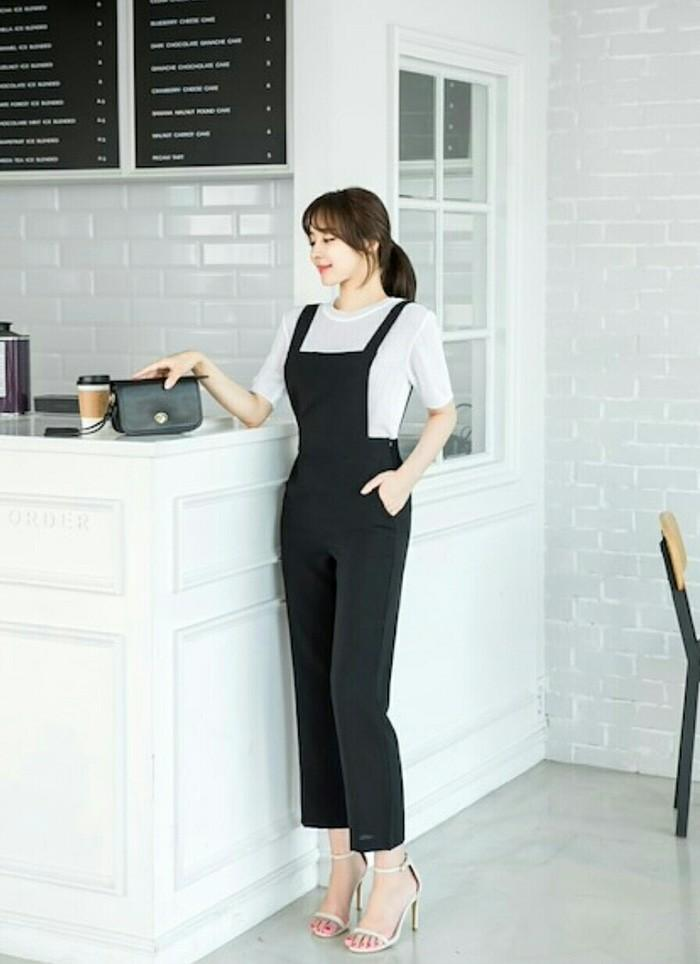 Setelan Celana Jumpsuit Overall + Blouse 2In1 Cute Girl Nomi Korean