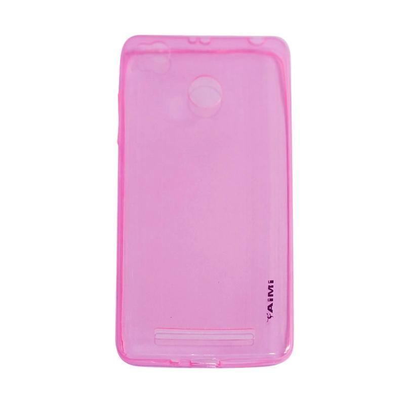 AIMI Ultrathin Case (Anti Jamur) Xiaomi Redmi 3X Jelly case Air Case 0.3mm / Silicone Xiaomi Redmi 3X / Soft Case Xiaomi Redmi 3X / Casing Xiaomi Redmi 3X - Pink